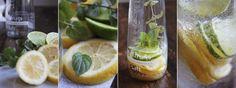 Hausgemachte Zitronenlimo #yammi #foodporn #lemon #mint #lemonade #drink #sommer #erfrischung