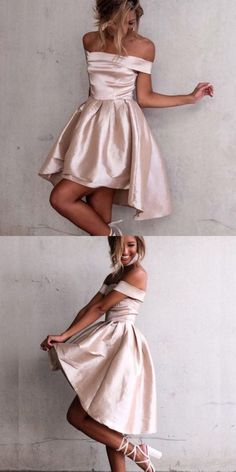 Cute Off-the-Shoulder Hi-Lo Party Dress, Fashion Champagne Prom Dress, Elegant . Cute Off-the-Shoulder Hi-Lo Party Dress, Fashion Champagne Prom Dress, Elegant Homecoming Dress with Pleats dresses short Champagne Homecoming Dresses, Elegant Homecoming Dresses, Cute Dresses For Party, Elegant Bridesmaid Dresses, Simple Prom Dress, High Low Prom Dresses, Prom Dresses 2018, Dresses For Teens, Elegant Dresses