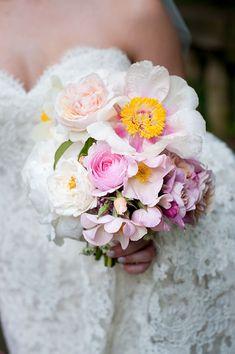 Romantic Spring Bouquet with Peonies | Brides.com