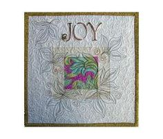 Art Wall Hanging Quilt, Word Quilt, Joy. From thebutterflyquilter