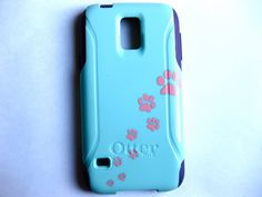 Galaxy S5 Otterbox Case, Otterbox Samsung Galaxy S5 Case Custom Paw print Glitter S5 Case by JoeBoxx on Etsy