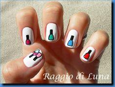 Aww nail polish nails! Too cute :)