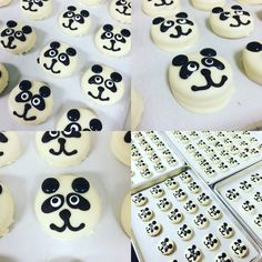PandAmonium!!! Made these Pandas with Golden Oreos, which is a great idea when using white chocolate, less crumb issues!!
