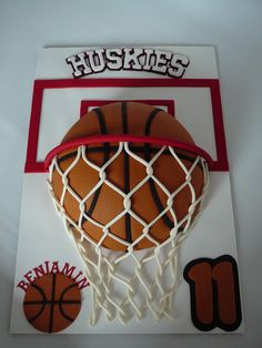 Basketball For Benjamin A basketball cake for Benjamin, 11 years old. He plays basketball and loves it. This is a marble cake with...