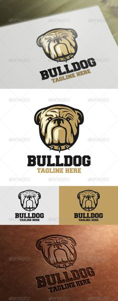 Bulldog Logo Template by VectorCrow Bulldog Logo Template for your company File included : .AI .EPS (Vector Format)