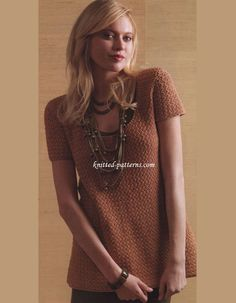 Make A Statement Tunic by Melissa Leapman - free crochet pattern for Women's sizes S, M, L, 1X, 2X, 3X