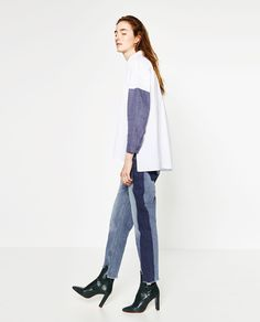 オーバーサイズシャツ-すべてを見る-シャツ ブラウス-レディ-ス | ZARA 日本
