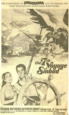 Released on Dec. Vintage Newspaper, Sinbad, Stop Motion, Animation, Ads, Fantasy, Adventure, Film, Classic