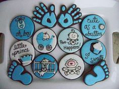 These are some of the cutest baby cookies, and here I am with several baby showers in my future...!