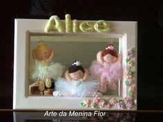 Coisinha fofa essas bailarinas da Alice  Mamãe bailarina deu nisso!!  Tb com os toques da Rosane Furtado artesã fizemos este encanto de quadrinho para decorar seu quartinho !  Arte da Menina Flor - feltros