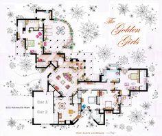 Detailed Floor Plan Drawings of Popular TV and Film Homes - My Modern Metropolis