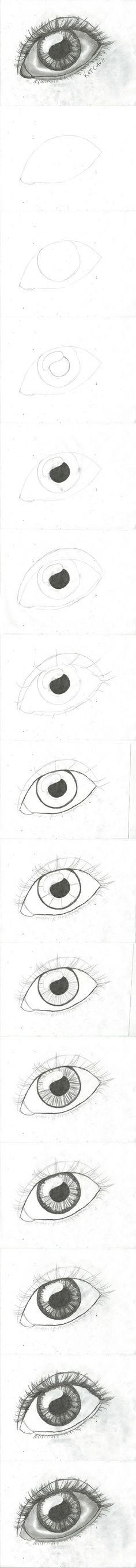 How to draw an eye step by step DIY instructions How to draw an eye step by step DIY instructions