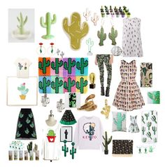 """""""Cactus Mania 2"""" by littlekittycats on Polyvore featuring art"""