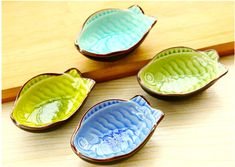 4 pieces/set Creative  dishes glazed ceramic Binglie / kitchen more flavoring dishes / utensils household vinegar sauce