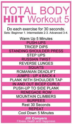 Total Body HIIT Workout 5 jillconyers.com #HIIT #workout #move…