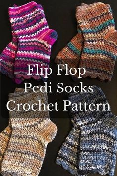 2b009fa6c1d4 COOL! Flip Flop Socks to knit on 9 inch circulars. Love these ...