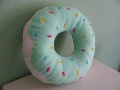 Large Donut Pillow by DarlingDonuts on Etsy