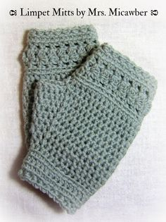 Mr. Micawber's Recipe for Happiness: Limpet Mitts Free Pattern and CAL ~ the Warmup ✿⊱╮Teresa Restegui http://www.pinterest.com/teretegui/✿⊱╮