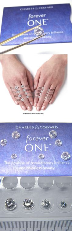 Synthetic Moissanite 110800: Forever One Moissanite 8Mm Round 2 Carat Loose Jewel Charles Colvard D E F -> BUY IT NOW ONLY: $532.68 on eBay!