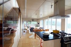 http://www.ireado.com/awesome-modern-wood-floors/ Awesome Modern Wood Floors : Beautiful Plywood Flooring In A Rustic Contemporary Cottage Modern Wood Floors