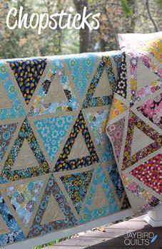 Chopsticks Quilt Pattern- Jaybird Quilts. $9.00, via Etsy.