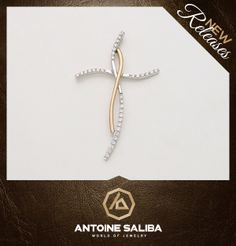#Diamond #Cross #Pendant 18Kt #Gold  Click for Details  http://www.antoinesaliba.com/link.php?id=418 Free Shipping