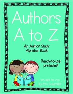 Authors A to Z | Great to use as a class book. Ready-to-print pages. Also includes a list of authors sorted by letter :)