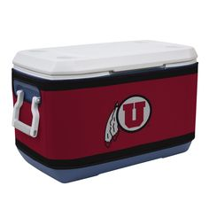 The Utah Utes Rappz 70 Quart Cooler Covers are fantastic looking and really show your University of Utah spirit. They are designed to fit over the Coleman 70 Quart Coolers but will fit most other simi