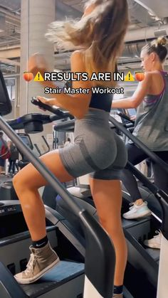 Stairmaster Workout, Leg And Glute Workout, Buttocks Workout, Full Body Gym Workout, Slim Waist Workout, Gym Workout Videos, Gym Workout For Beginners, Fitness Workout For Women, Fitness Goals