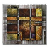 Found it at Wayfair - 'Rendered' by Michael Lang Original Painting on Metal Plaque