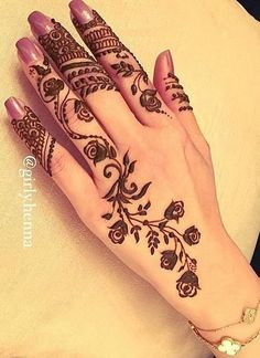 This article is about the best and gorgeous henna patterns. We are selecting Top 10 Lovely Mehndi Designs for Girls 2019 here from the best. Modern Mehndi Designs, Henna Designs Easy, Beautiful Mehndi Design, Latest Mehndi Designs, Henna Tattoo Designs, Hena Designs, Mehandi Henna, Henna Tattoo Hand, Henna Art