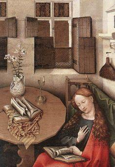 Robert Campin - Annunciation (detail) - WGA14403.jpg