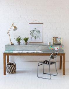 Large Zinc Topped Desk