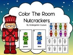 Do your students need more practice with reading and writing color words?  Maybe just finding and matching colors.  This Color the Room has  8 colored posters and 2 recording sheet. One recording sheet has students color the matching Nutcrackers on their recording sheet and write the color word.