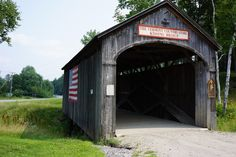 Kissing Bridge at VT Country Store in Bellows Falls, VT