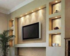 62 Ideas Living Room Tv Wall Corner Cabinets For 2019 Kitchen Wall Units, Modern Tv Wall Units, Modern Tv Room, Tv Wand Design, Living Room Tv Unit Designs, Tv Wall Decor, Diy Wall, Ceiling Design, Wall Design