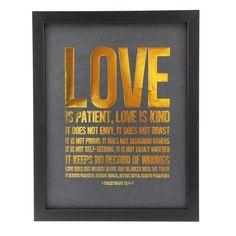 Bilde gulltrykk Love
