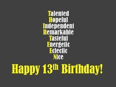 1aeca7ba1ff5251e3188417560f1f396 happy 13th birthday birthdays pinterest happy 13th birthday