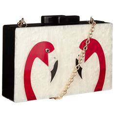 Buy John Lewis Flamingo Box Clutch Bag, Multi Online at johnlewis.com