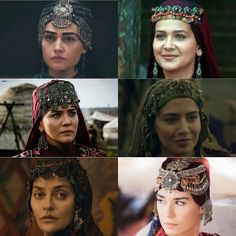 Brave women from Dirilis Ertugrul (i know i missed some outbut these are my favourites) Turkish Women Beautiful, Turkish Beauty, Best Islamic Images, Famous Warriors, Esra Bilgic, Muslim Beauty, Beautiful Series, Brave Women, Turkish Fashion