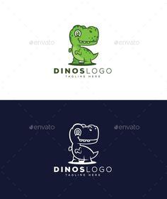 Dinosaur Logo - Animals Logo Templates Logo Design Template, Logo Templates, 10 Logo, Portfolio Logo, Best Logo Design, Animal Logo, Cool Logo, Improve Yourself, Logos