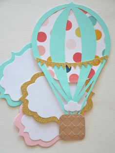 Hot Air Balloon Baby Shower Invite Hot Air by HootsieShop on Etsy