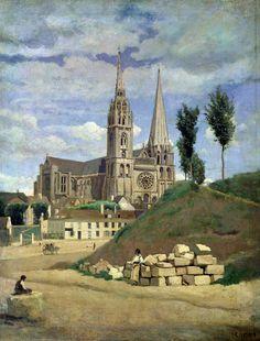 "Chartres par Corot...""Chartres and Proust"" via Patrice Louis"
