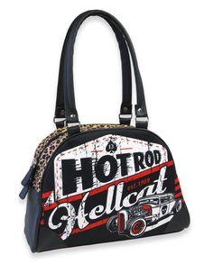 Hotrod Hellcat Damen LAGER Handtasche/Bowling Bags.Tattoo,Biker,Pin up Style