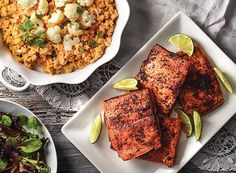 Southwest Lime Salmon with Smashed Cauliflower from Publix Aprons