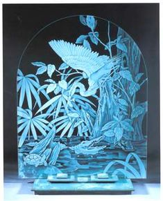 Etching glass: