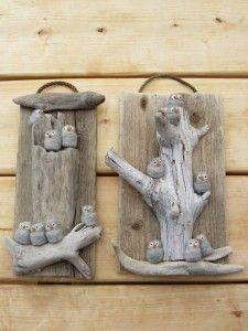 Cute stone birds in a tree!