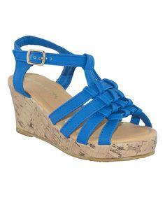 Blue Malibu  Suede Sandal