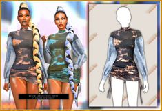 Sims 4 Cas, Sims Cc, Hair Diffuser, Sims 4 Characters, Denim Crop Top, The Sims 4 Download, Sims 4 Cc Finds, Sims 4 Clothing, Sims Mods