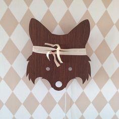 ferm LIVING Fox Lamp - http://www.fermliving.com/webshop/shop/fox-lamp-smoked-oak.aspx  ferm LIVING Harlequin Wallpaper Rose - http://www.fermliving.com/webshop/shop/harlequin-wallpaper-rose.aspx
